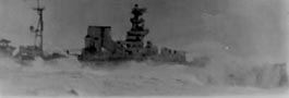 Barham from a submarine. May have been similar to Von Tiesenhausen's view before he launched the torpedoes. Found in a survivor's photo album captioned, 'taken by an escorting submarine'